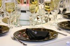 украшенная обедая таблица Стоковое Изображение RF