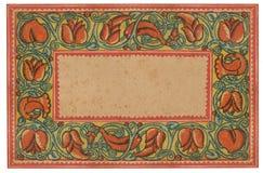 украшенная обрамленная бумага Стоковое Изображение