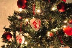Украшенная рождественская елка Стоковые Фотографии RF