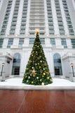 Украшенная рождественская елка Стоковые Изображения