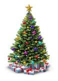 Украшенная рождественская елка Стоковое Изображение RF
