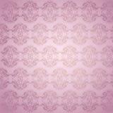 украшенная розовая стена Стоковая Фотография