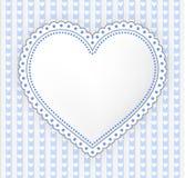 Украшенная сине-серая иллюстрация ярлыка сердца иллюстрация вектора