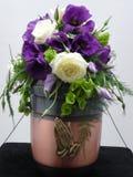 украшенная урна цветков Стоковая Фотография