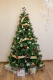 Украшенное дерево Christmass Стоковые Изображения RF