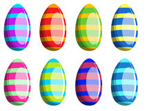 Украшенное изолированное собрание пасхального яйца Стоковое Фото