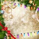 украшенное рождество baubles 10 eps Стоковые Изображения
