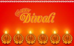 Украшенное Diya на праздник Diwali иллюстрация штока