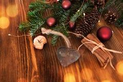 Украшенные аксессуары рождества стоковые фото