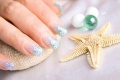 украшенные ногти Стоковое фото RF