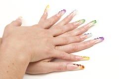 Украшенные ногти Стоковое Изображение RF