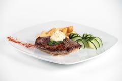 украшенные овощи мяса хлебца Стоковая Фотография RF