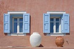 Украшенные окна в Fiskardo стоковые изображения