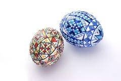 украшенные пасхальные яйца стоковое фото
