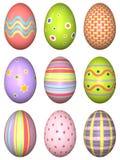 Украшенные пасхальные яйца иллюстрация штока