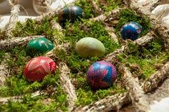 Украшенные пасхальные яйца Стоковые Изображения