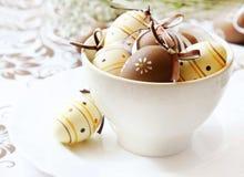 Украшенные пасхальные яйца стоковые фото