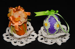 украшенные пасхальные яйца Стоковое Изображение RF
