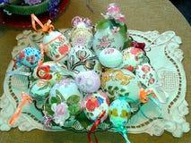 украшенные пасхальные яйца Стоковые Изображения RF