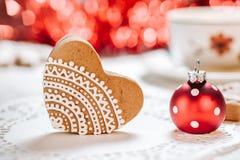 Украшенные печенья имбиря Стоковое Изображение