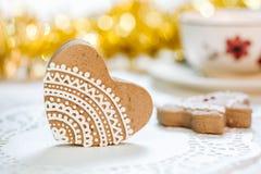 Украшенные печенья имбиря Стоковые Фотографии RF