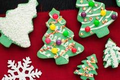 Украшенные печенья рождественской елки Стоковое Фото