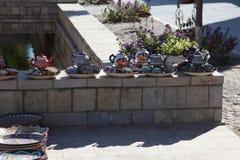 Украшенные плиты с орнаментом Узбекистана национальным стоковые изображения rf