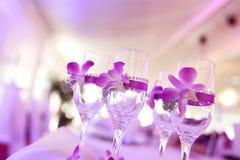 Украшенные стекла шампанского Стоковое Фото