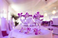 Украшенные стекла шампанского Стоковая Фотография