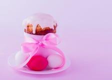 Украшенные торты и яичка пасхи Стоковые Фото