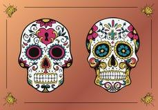 украшенные черепа Ла Calavera Catrina Стоковые Фото