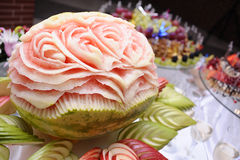 украшенный арбуз Стоковая Фотография