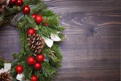 Украшенный конец-вверх венка рождества Стоковое Изображение RF