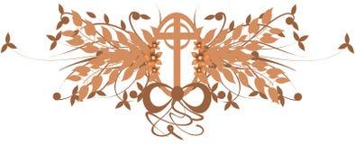 Украшенный крест иллюстрация штока