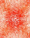 украшенный лиственным орнаментом розы 1 стоковые изображения