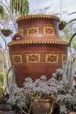 Украшенный мексиканский глиняный горшок Стоковое Фото