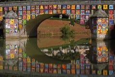 украшенный мост Стоковое Изображение