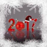 Украшенный Новый Год 2017 рождества Стоковая Фотография