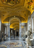 Украшенный потолок в галерее карт, музее Ватикана Стоковые Изображения