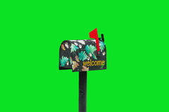 украшенный почтовый ящик стоковая фотография rf