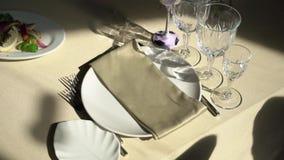 Украшенный роскошный ресторан сток-видео