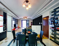 украшенный самомоднейший тип комнаты Стоковое Изображение RF