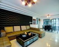 украшенный самомоднейший тип комнаты Стоковые Фото
