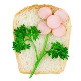 украшенный сандвич еды цветка смешной Стоковые Изображения RF
