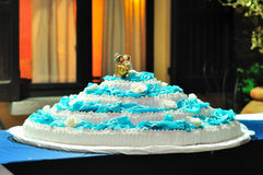 Украшенный свадебный пирог стоковые фотографии rf