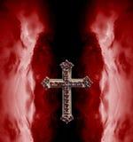 Украшенный старый христианский крест Стоковое Изображение