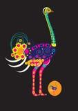 Украшенный страус бесплатная иллюстрация