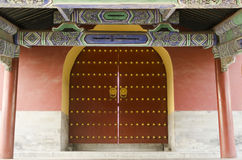 Украшенный строб зданий Пекина Китая виска Temple of Heaven Tiantan Daoist eligious Стоковые Изображения RF