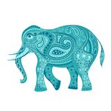 украшенный слон Стоковое Фото