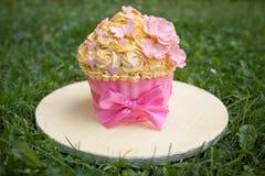 украшенный торт Стоковые Фото